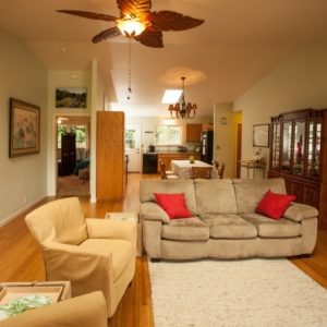 view of living room, dining room and kitchen at Ho'oNani Care Home
