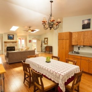 Spacious kitchen and dining room at Ho'oNani Care Home