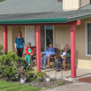 enjoy dryside Waimea from the spacious lanai at HooNani Care Home