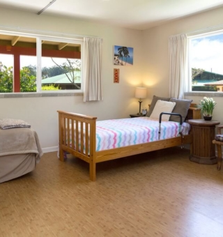 The Aloha semi-private suite at HooNani Care Home
