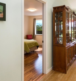 doorway into the Mauka private bedroom