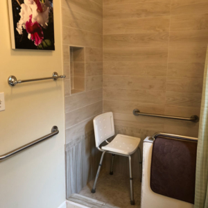 ADA Accessible shower stall